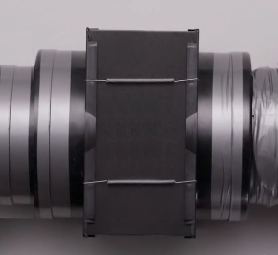 200mm F8 Odour Removing In-line Filter Assembly